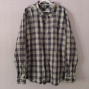 LRG Button Down Long Sleeve Plaid Shirt 4XL
